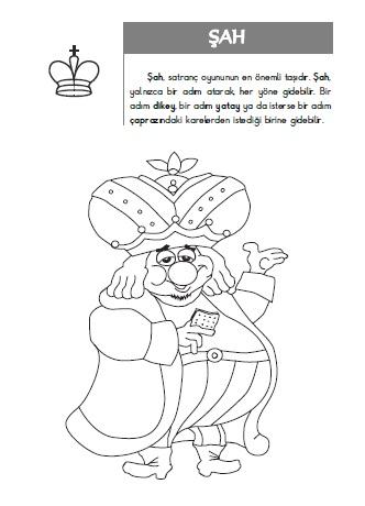 Boyamalarla Satranc Kitabi Okulda Satranc